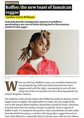 Koffee: The new toast of Jamaica